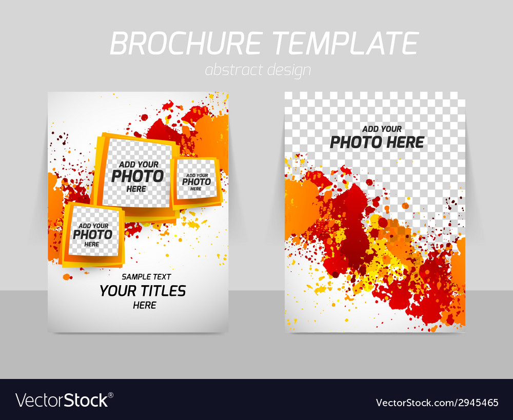 Flyer back and front template design vector | Price: 1 Credit (USD $1)