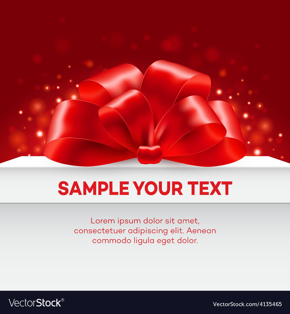 Gift with red bow vector | Price: 1 Credit (USD $1)