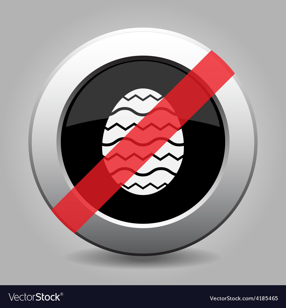 Grey button - no easter ornamental egg vector | Price: 1 Credit (USD $1)
