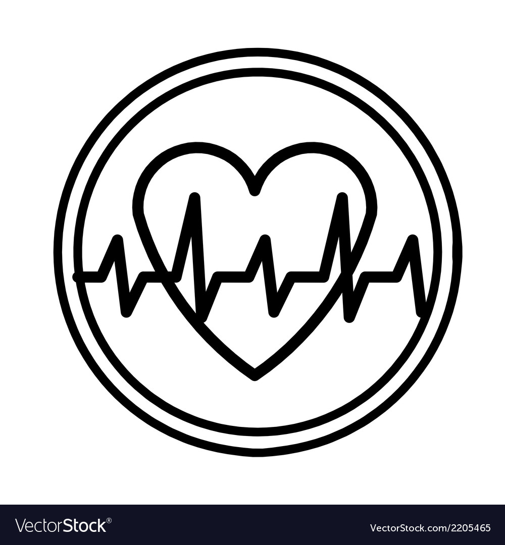 Heartbeat symbol vector | Price: 1 Credit (USD $1)