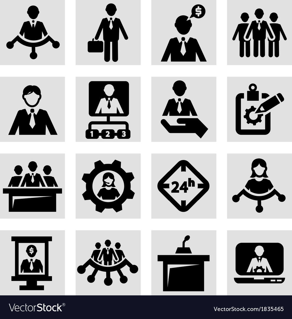 Human resources and management icons vector | Price: 1 Credit (USD $1)