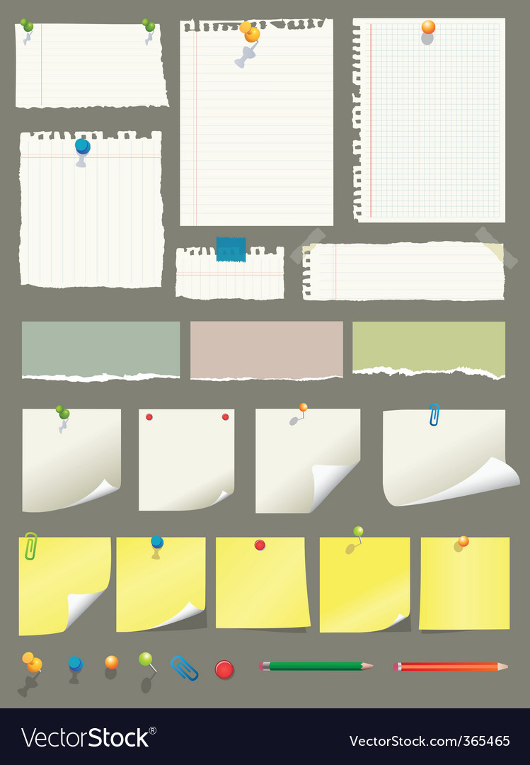 Paper collection vector | Price: 1 Credit (USD $1)
