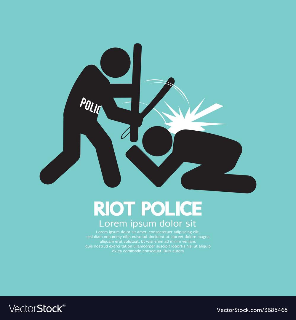 Riot police black symbol graphic vector | Price: 1 Credit (USD $1)