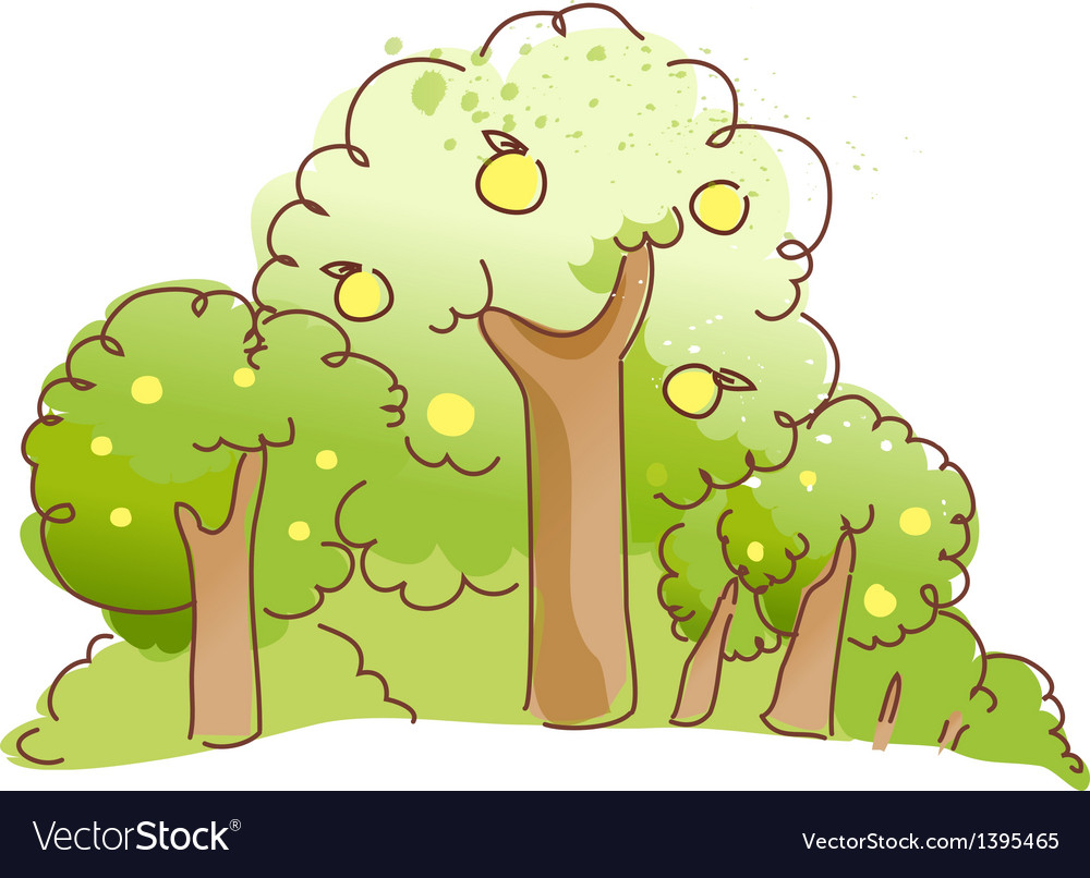 The threes in the forest vector | Price: 1 Credit (USD $1)