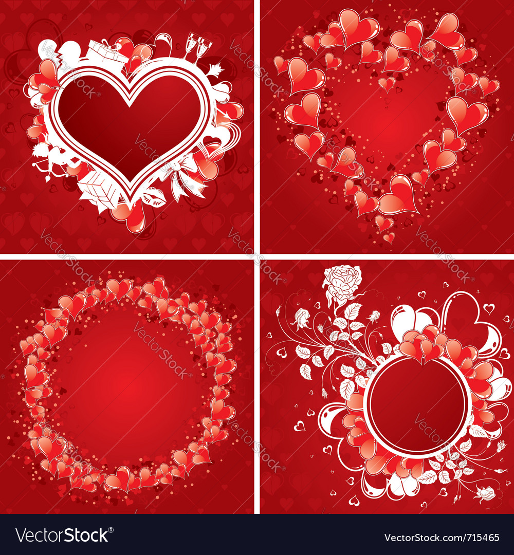 Valentines day poster vector | Price: 1 Credit (USD $1)