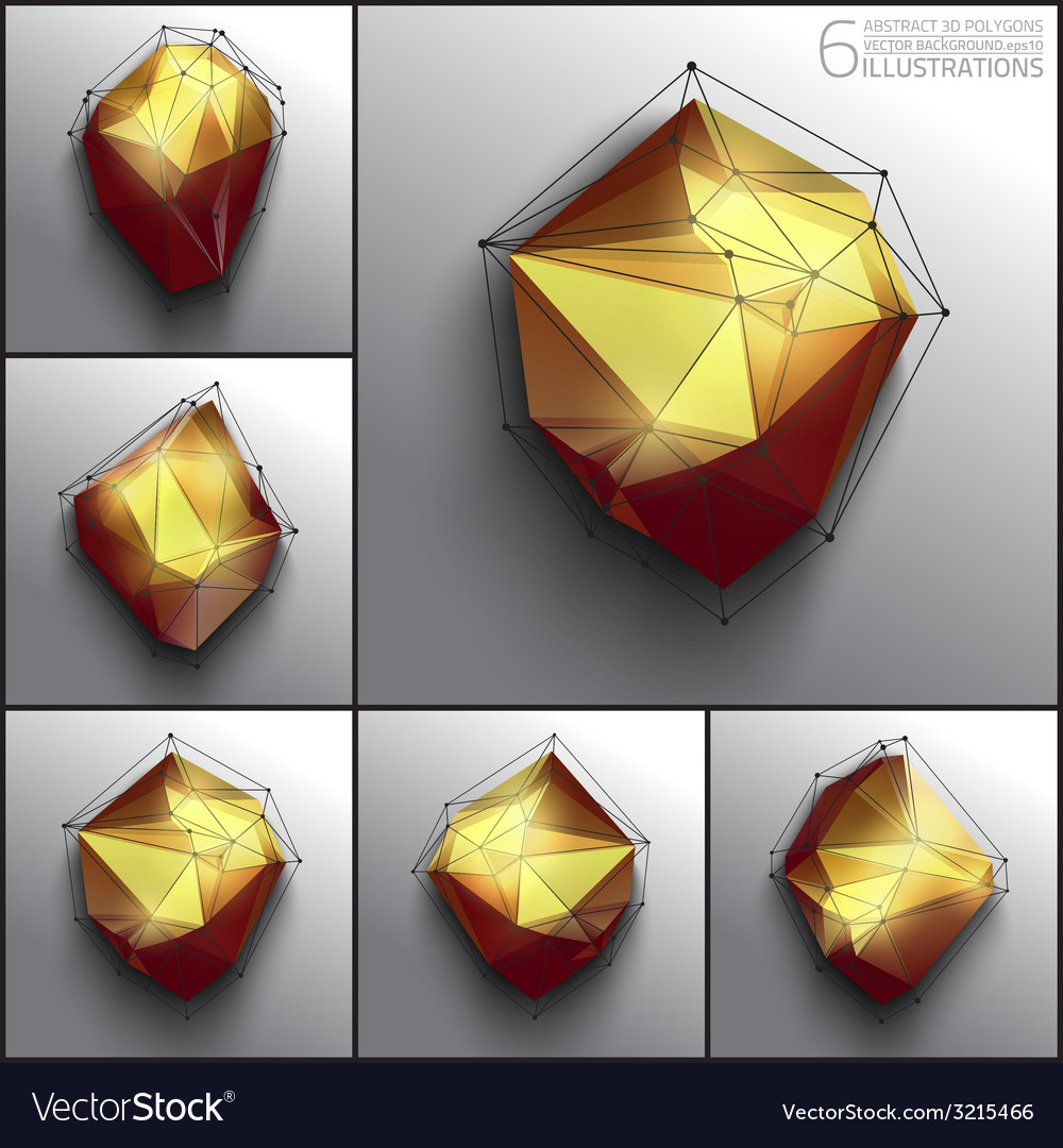 Abstract 3d polygons vector   Price: 1 Credit (USD $1)