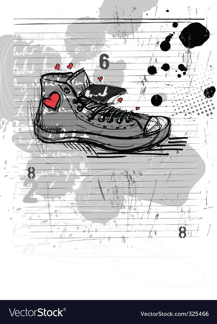 Abstract shoe vector | Price: 1 Credit (USD $1)