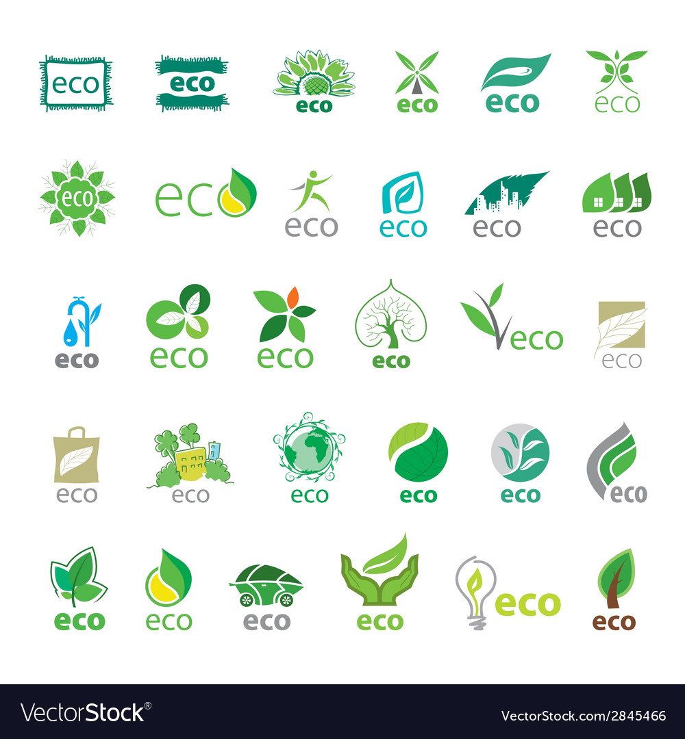 Biggest collection of logos eco vector | Price: 1 Credit (USD $1)