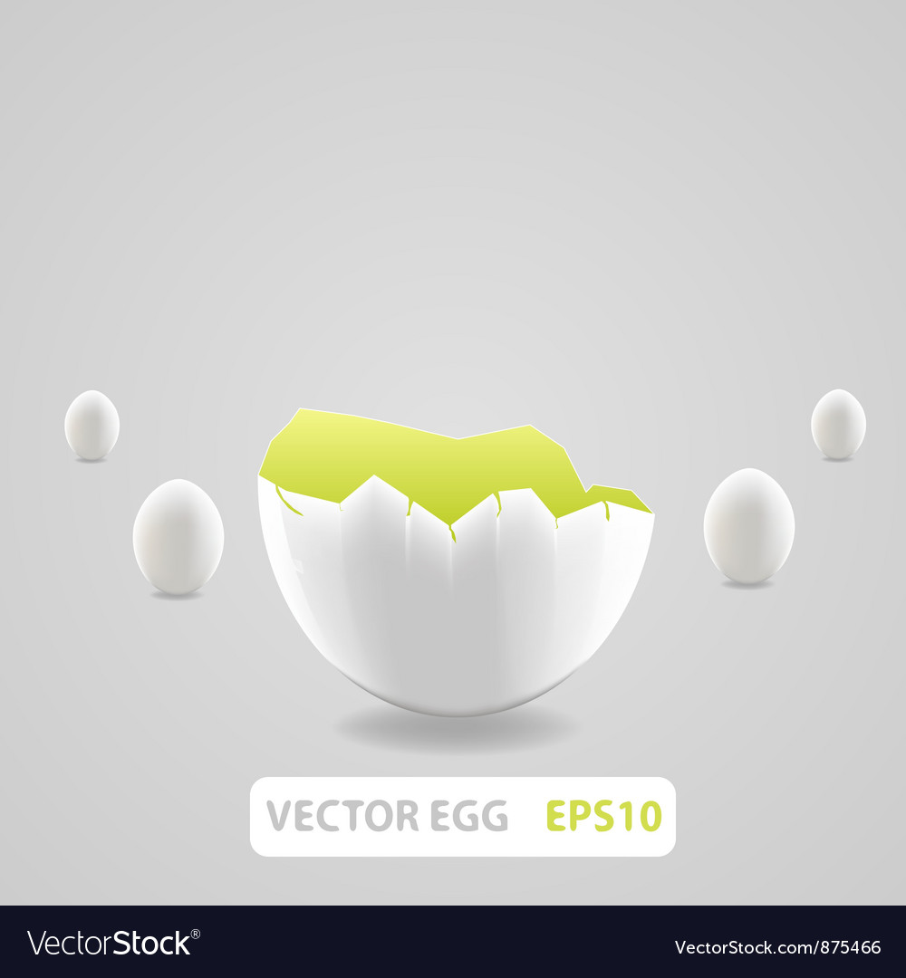 Brown broken egg concept vector | Price: 1 Credit (USD $1)