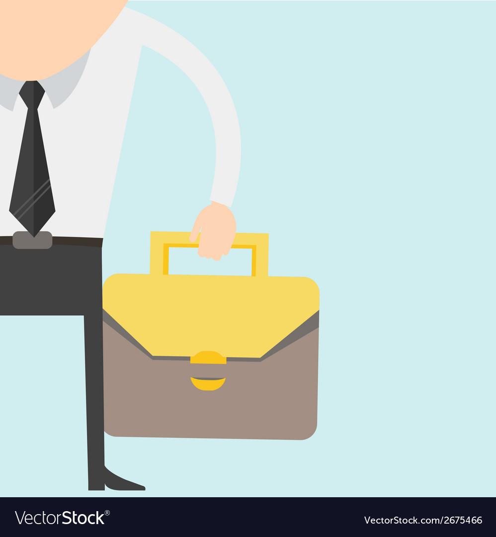 Cartoon businessman in suit vector | Price: 1 Credit (USD $1)