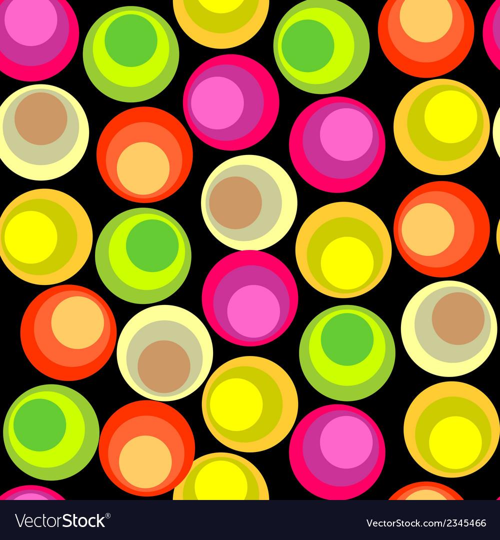Circles seamless pattern vector | Price: 1 Credit (USD $1)