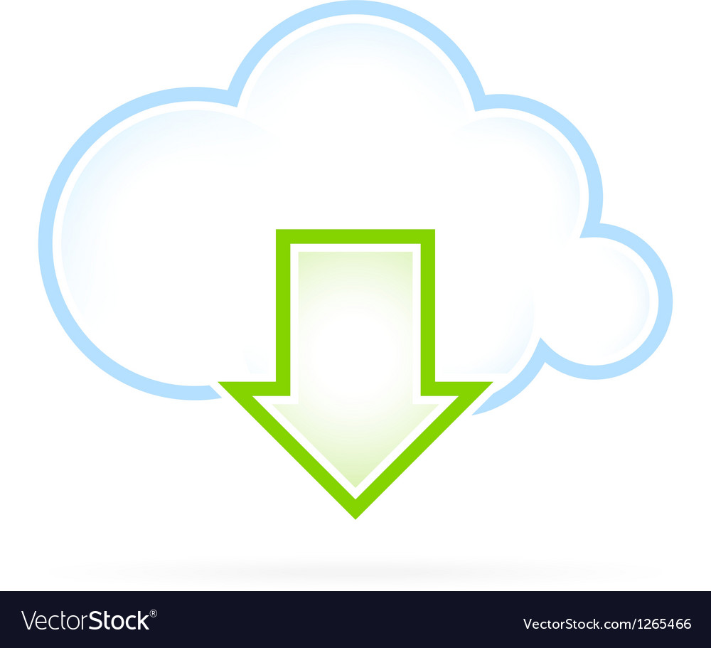 Cloud computing icon download vector | Price: 1 Credit (USD $1)
