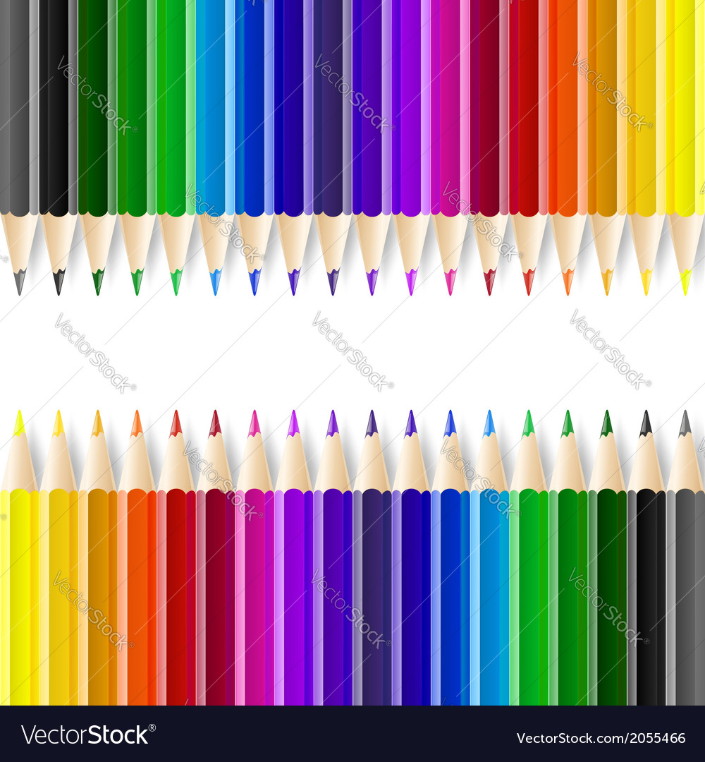 Color pencils on white background vector   Price: 1 Credit (USD $1)