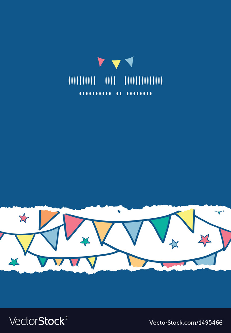 Colorful doodle bunting flags vertical torn vector | Price: 1 Credit (USD $1)