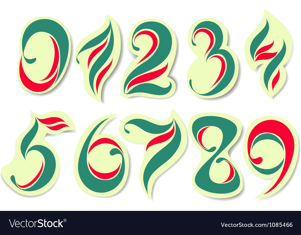 Colorful numbers vector | Price: 1 Credit (USD $1)