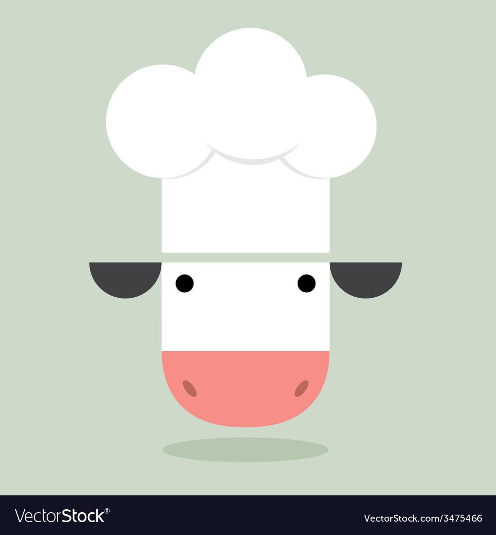 Cow chef vector | Price: 1 Credit (USD $1)
