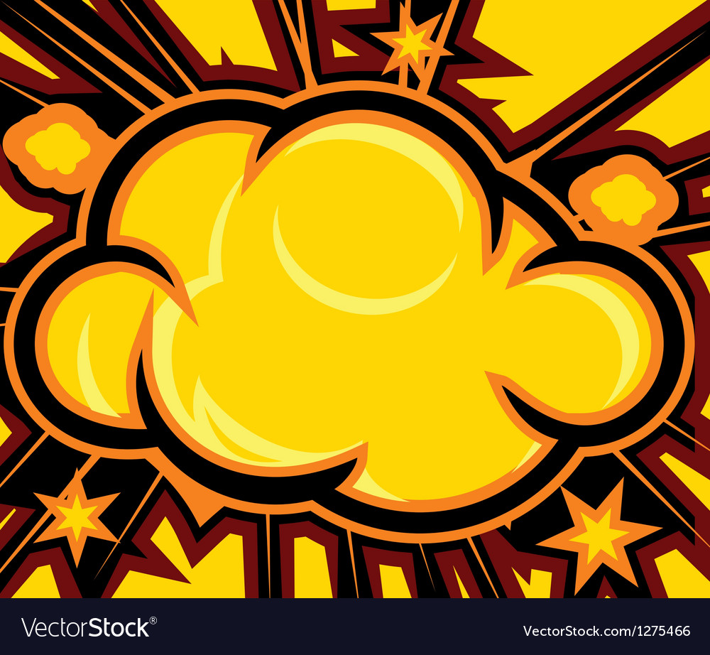 Explosion comic book explosion background vector | Price: 1 Credit (USD $1)