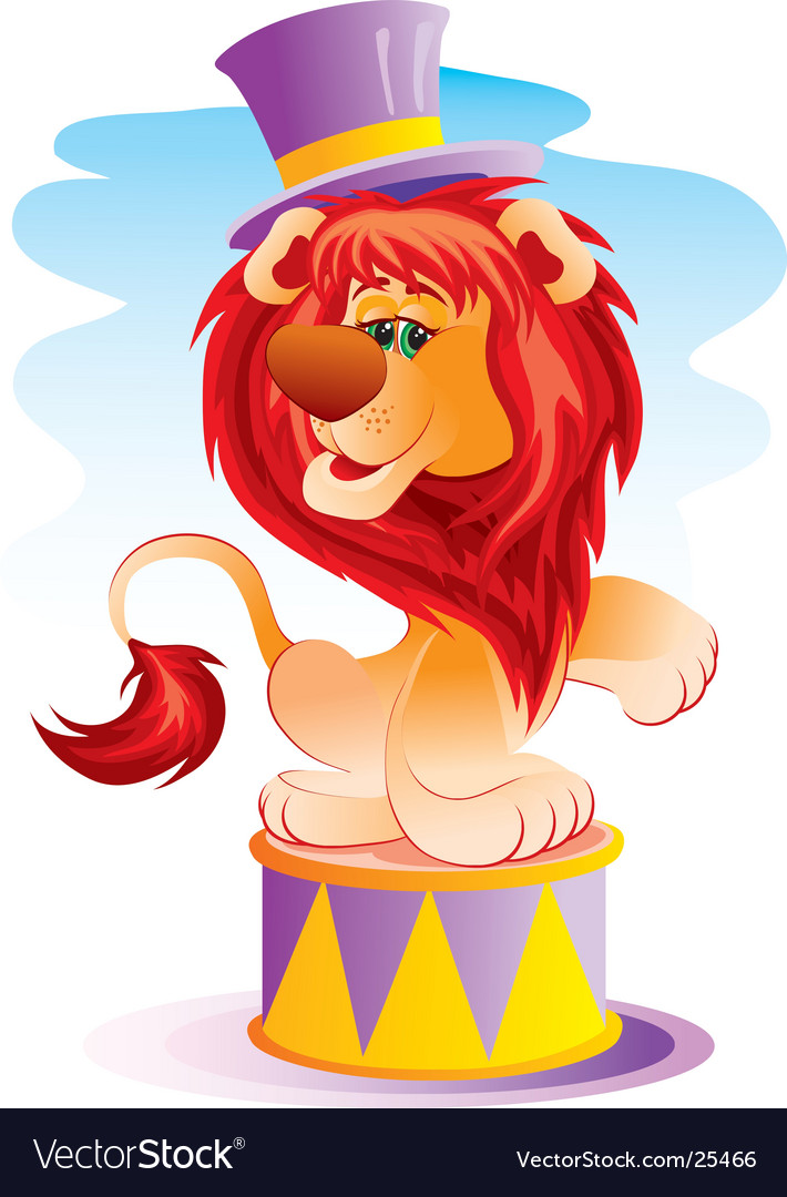 Lion in circus vector | Price: 3 Credit (USD $3)