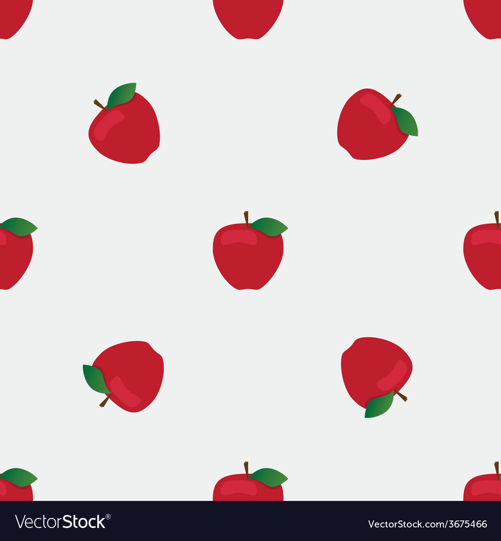 Seamless background with red apples vector | Price: 1 Credit (USD $1)