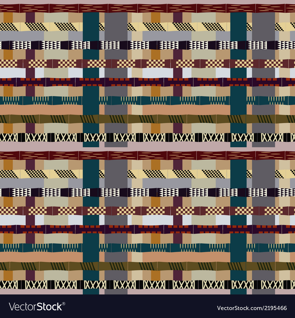 Tribal seamless pattern with bamboo trunks vector | Price: 1 Credit (USD $1)