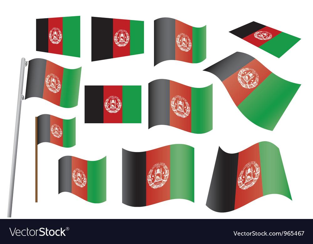 Afghanistan flag vector   Price: 1 Credit (USD $1)