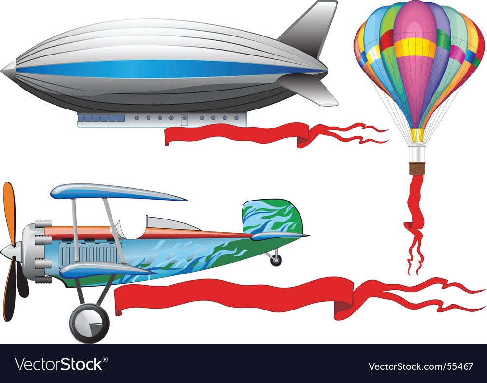 Airship vector | Price: 3 Credit (USD $3)