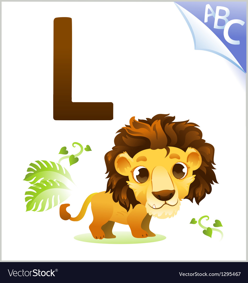 Animal alphabet for the kids for the lion vector | Price: 1 Credit (USD $1)