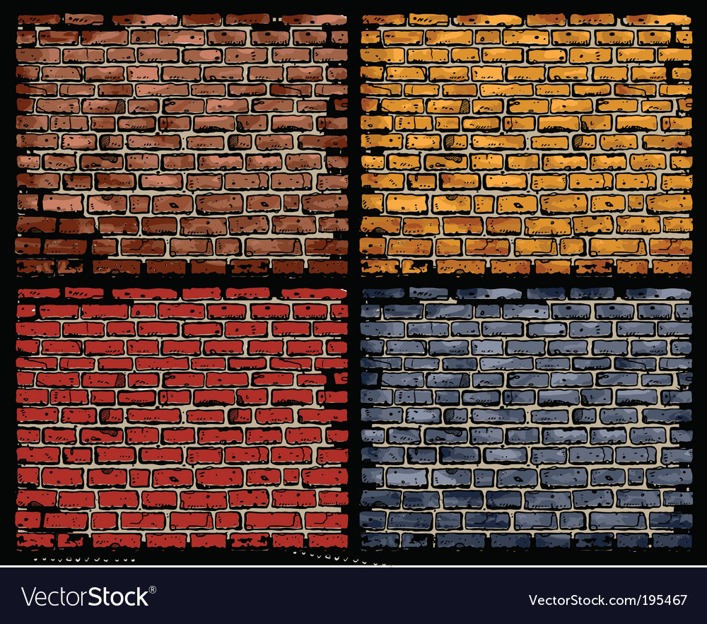 Brick walls vector | Price: 1 Credit (USD $1)