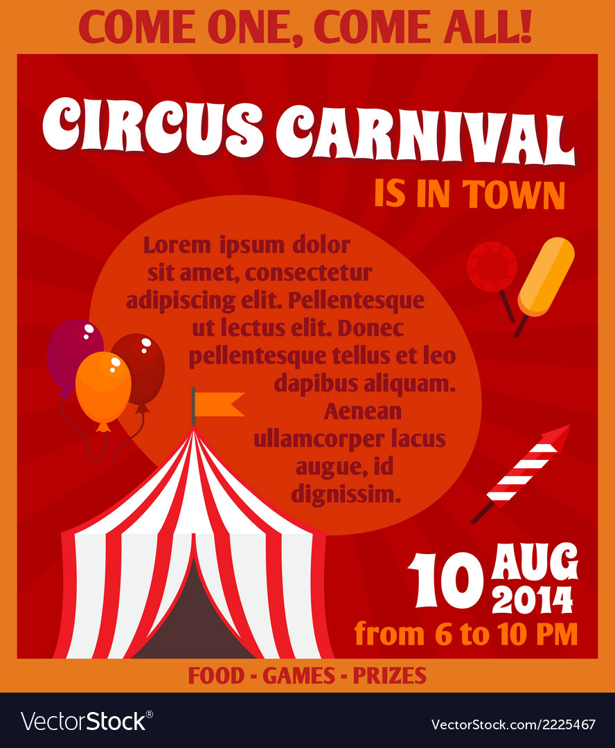 Circus advertising poster vector | Price: 1 Credit (USD $1)