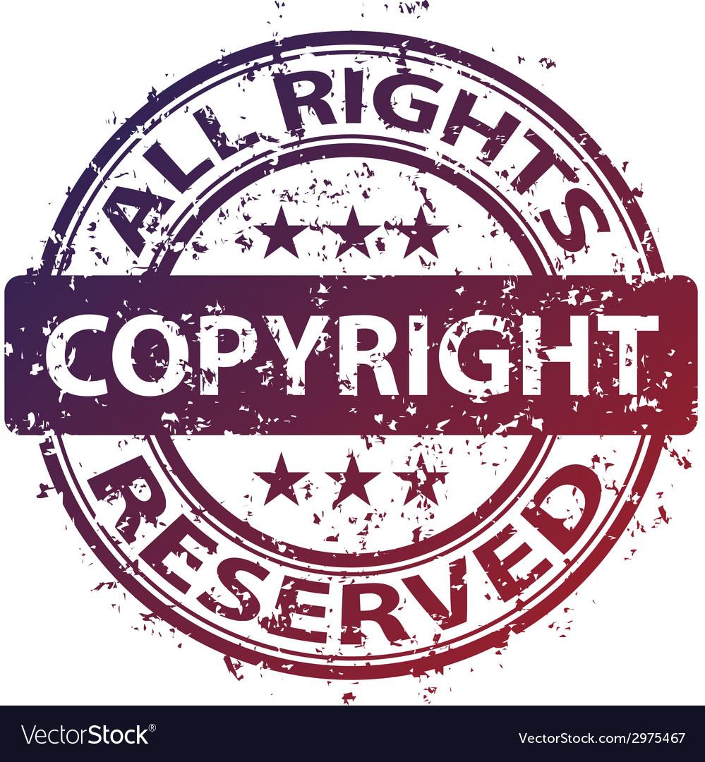 Damaged copyright stamp vector | Price: 1 Credit (USD $1)