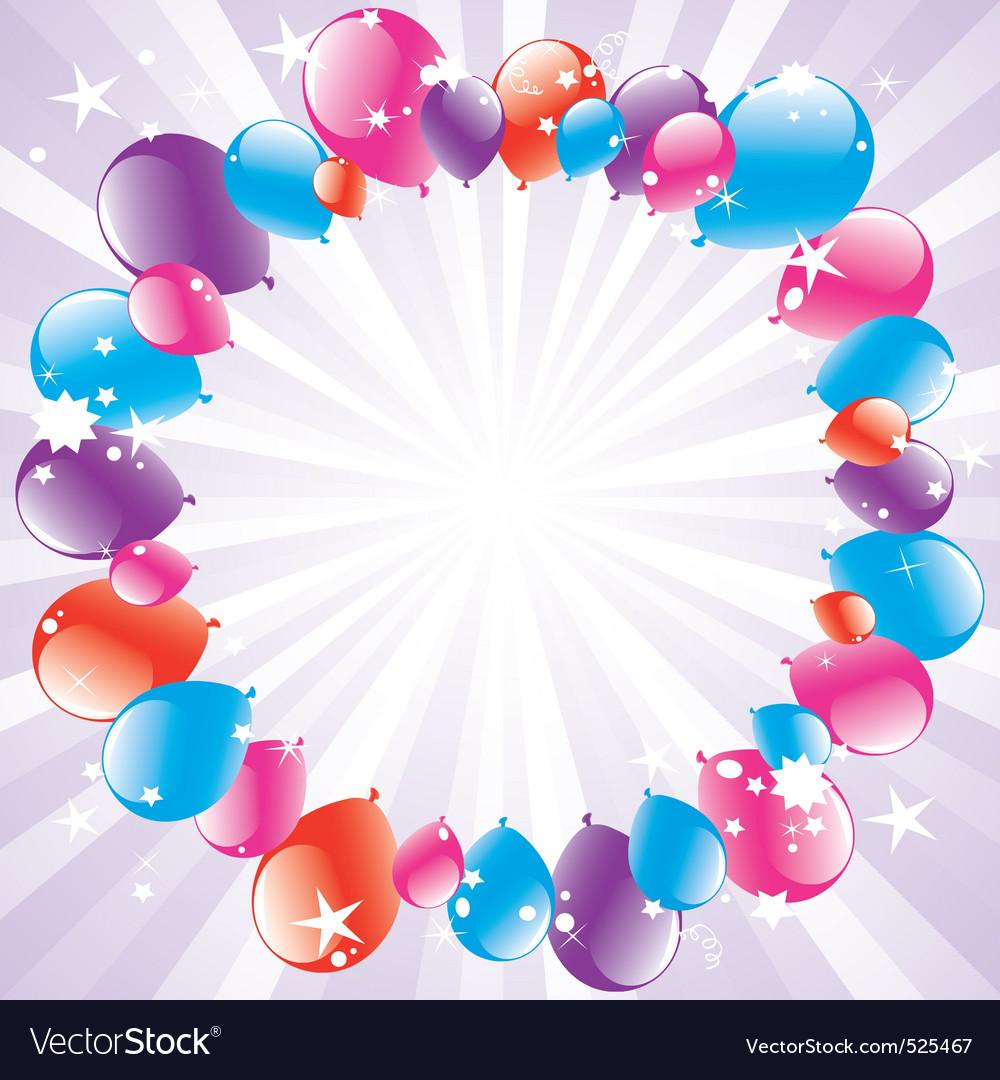 festive balloons and lightburst vector   Price: 1 Credit (USD $1)