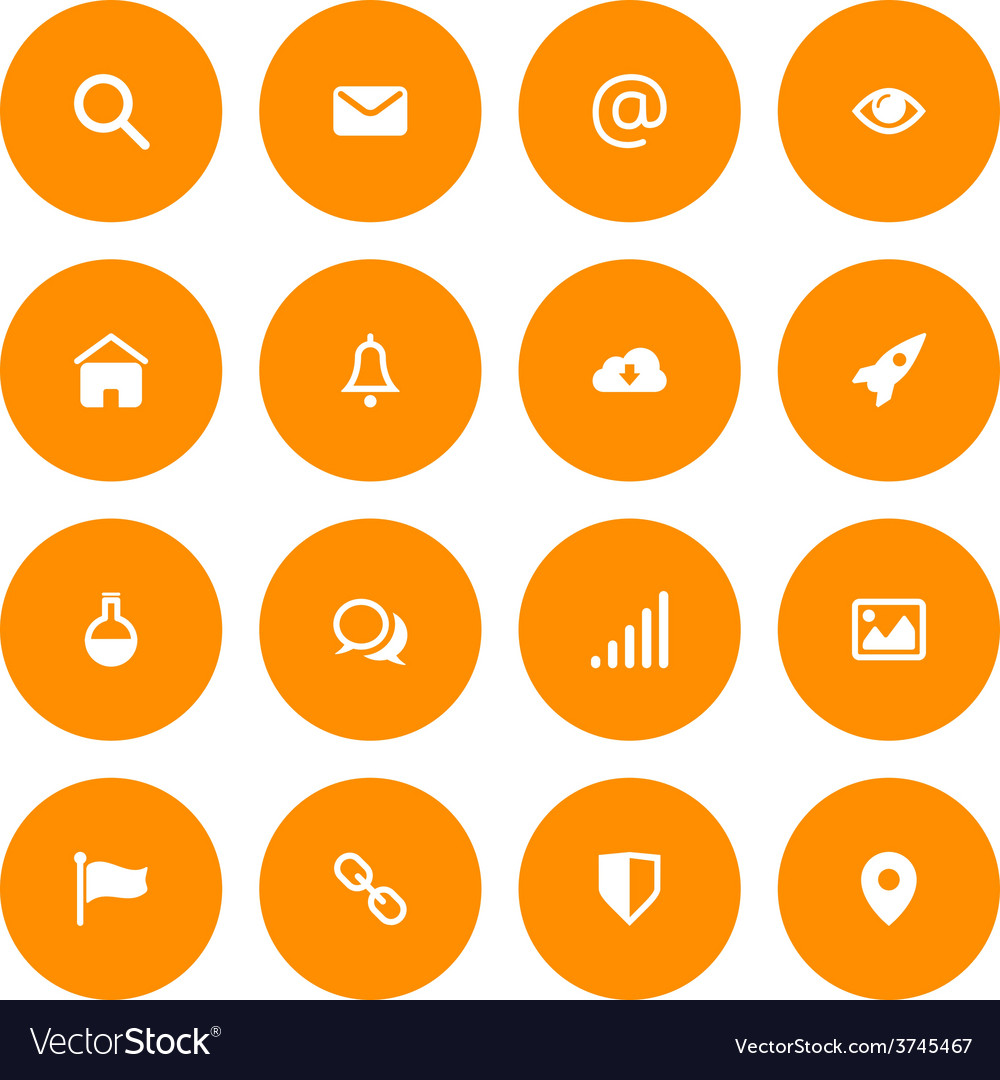 Flat icon set for web and mobile email and web vector   Price: 1 Credit (USD $1)