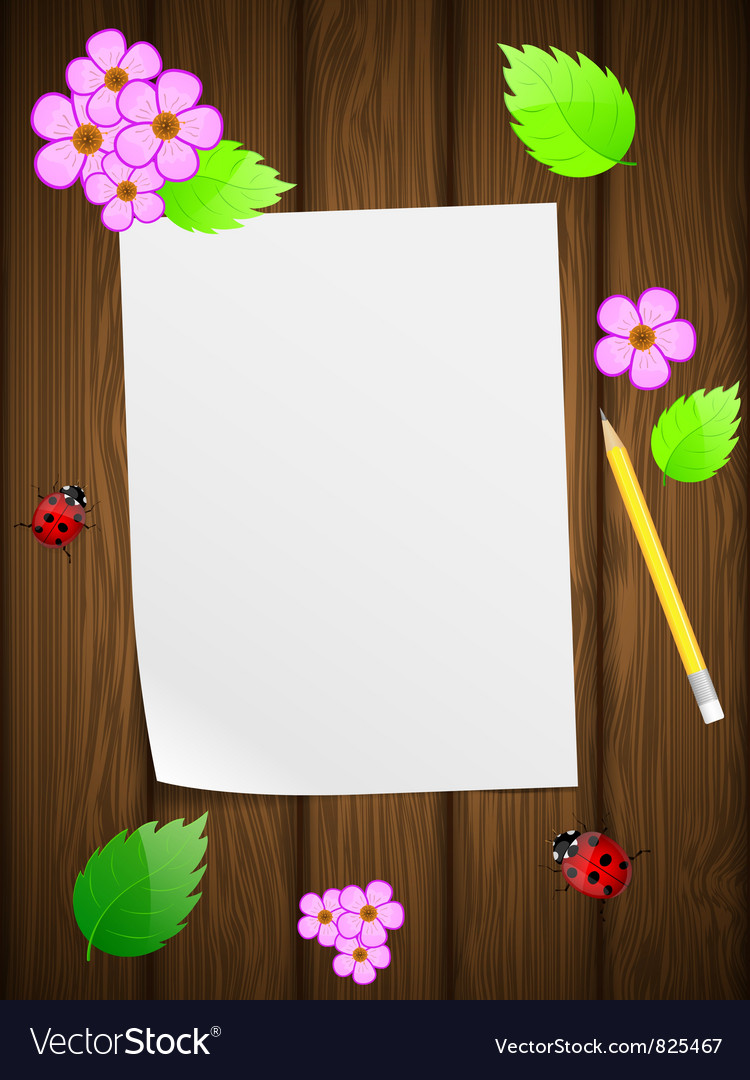 Floral wooden background vector | Price: 3 Credit (USD $3)