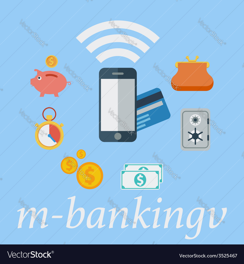 Mobile banking vector | Price: 1 Credit (USD $1)