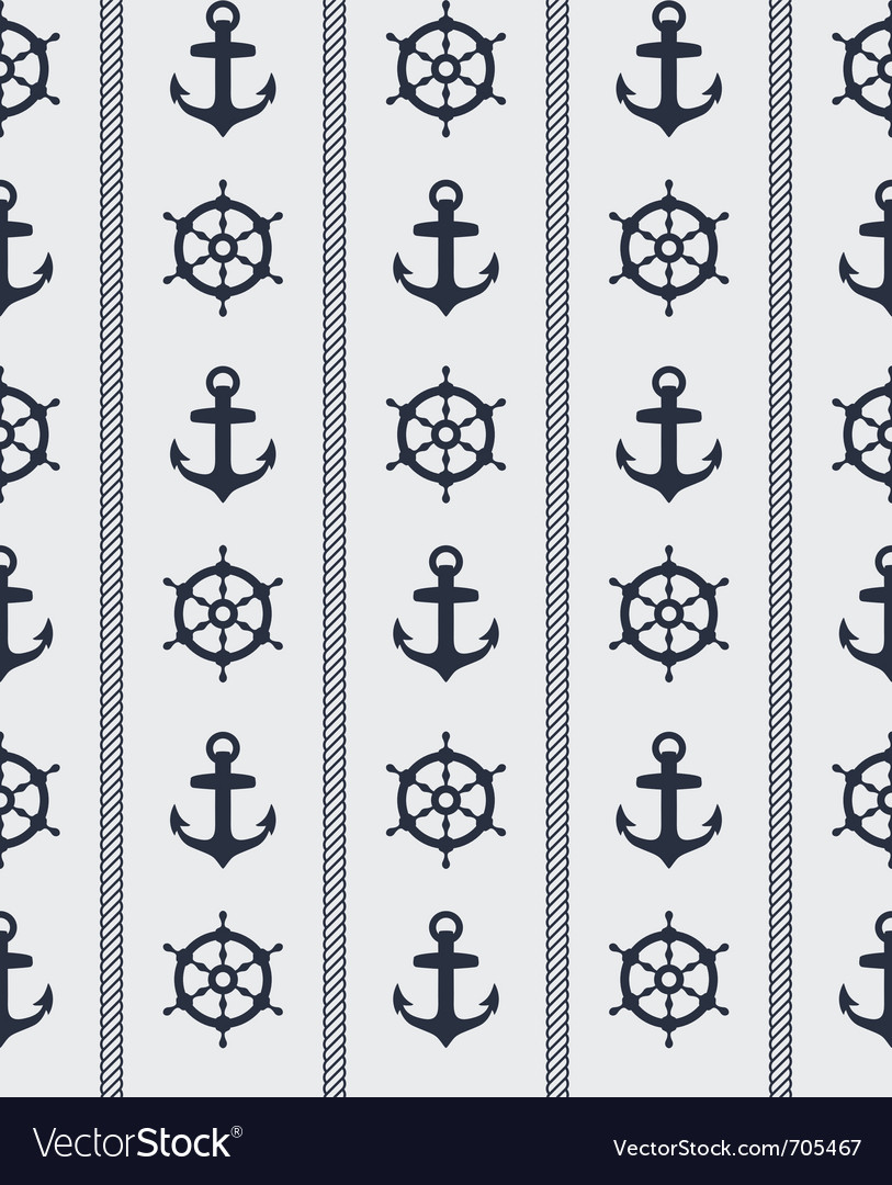 Nautical seamless pattern vector | Price: 1 Credit (USD $1)