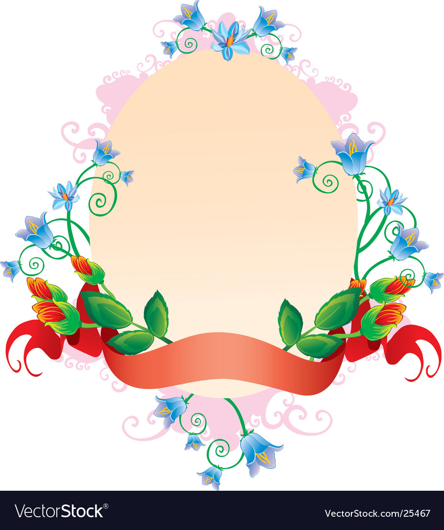 Oval ornament vector