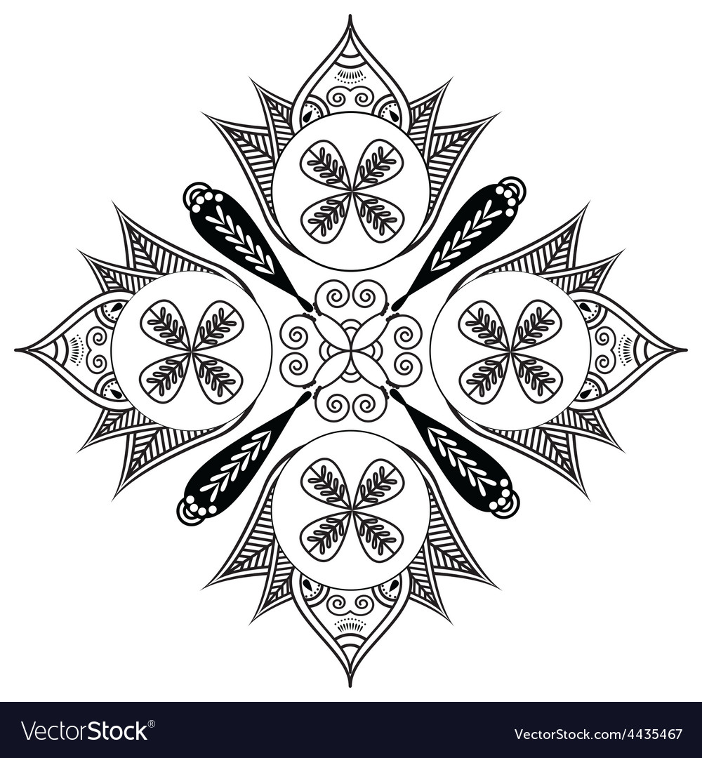 Shape with oval diagonal elements vector | Price: 1 Credit (USD $1)