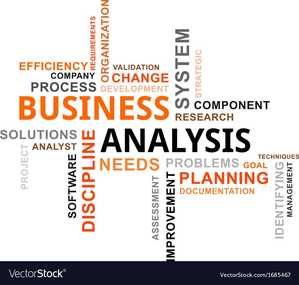 Word cloud business analysis vector | Price: 1 Credit (USD $1)