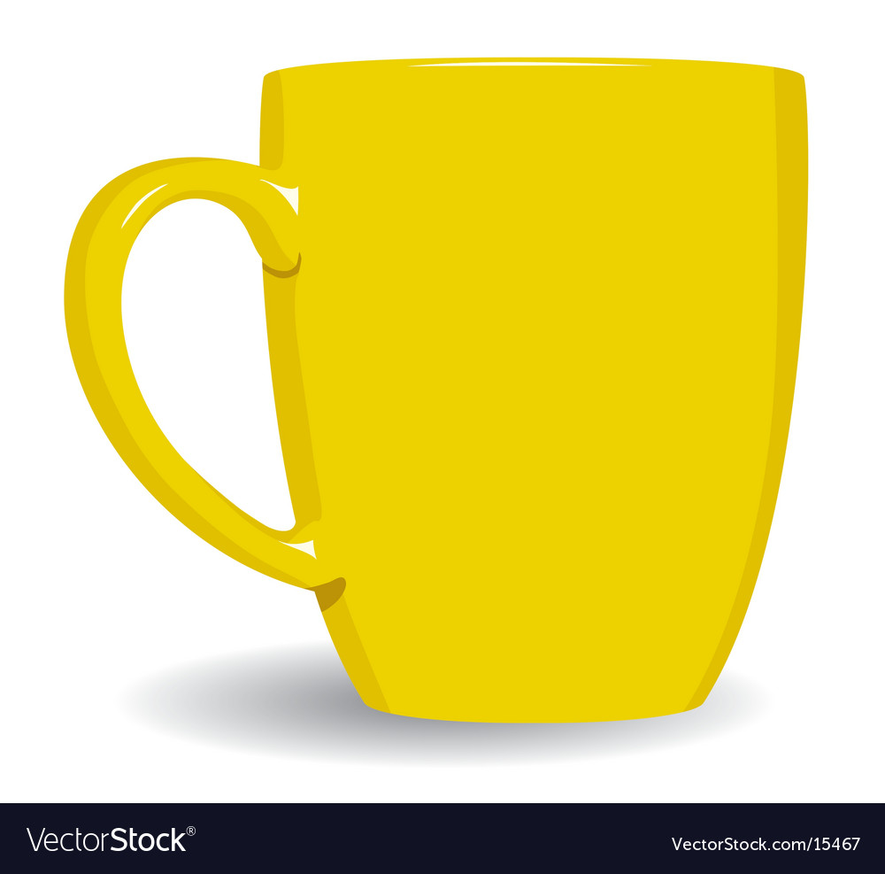 Yellow mug on white background vector | Price: 1 Credit (USD $1)