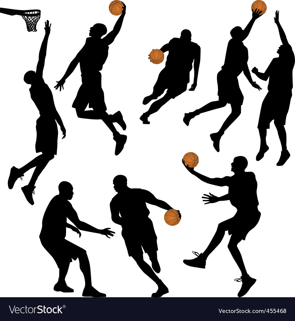 Ball people silhouettes collection vector vector | Price: 1 Credit (USD $1)