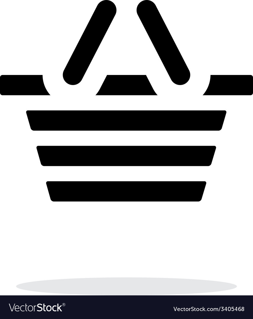 Basket simple icon on white background vector | Price: 1 Credit (USD $1)