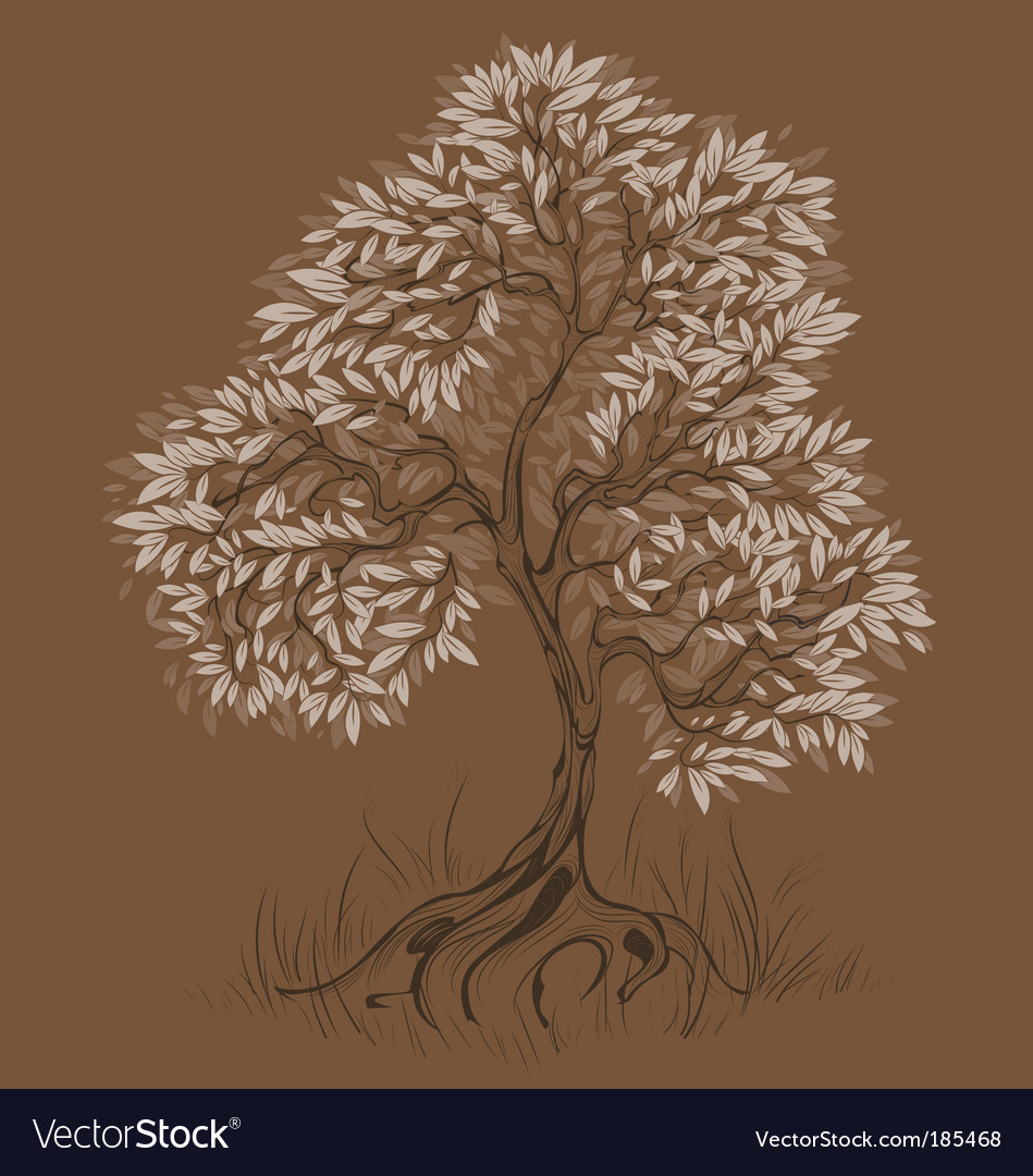 Brown tree vector | Price: 1 Credit (USD $1)
