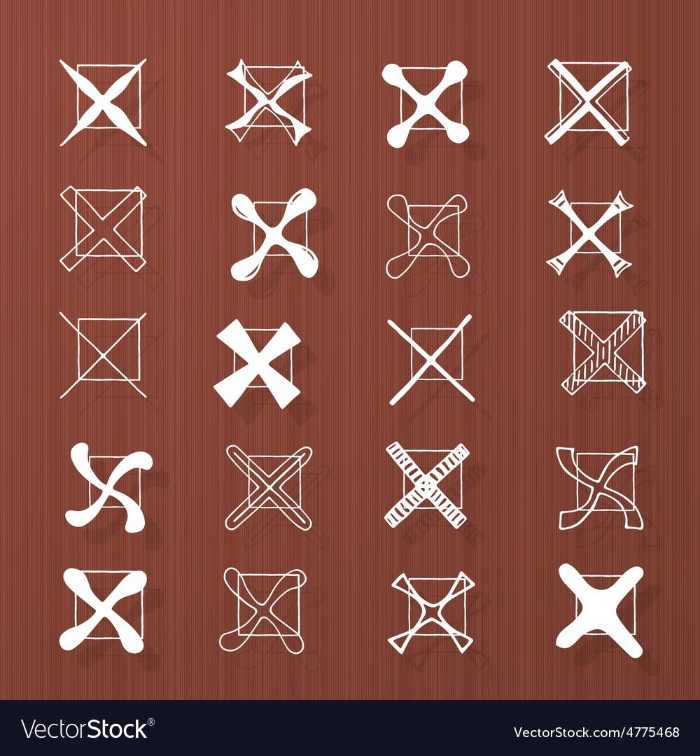 Cross marks - hand drawn vector | Price: 1 Credit (USD $1)