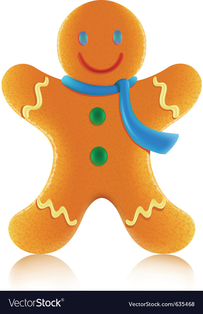 Gingerbread man cookie vector | Price: 1 Credit (USD $1)