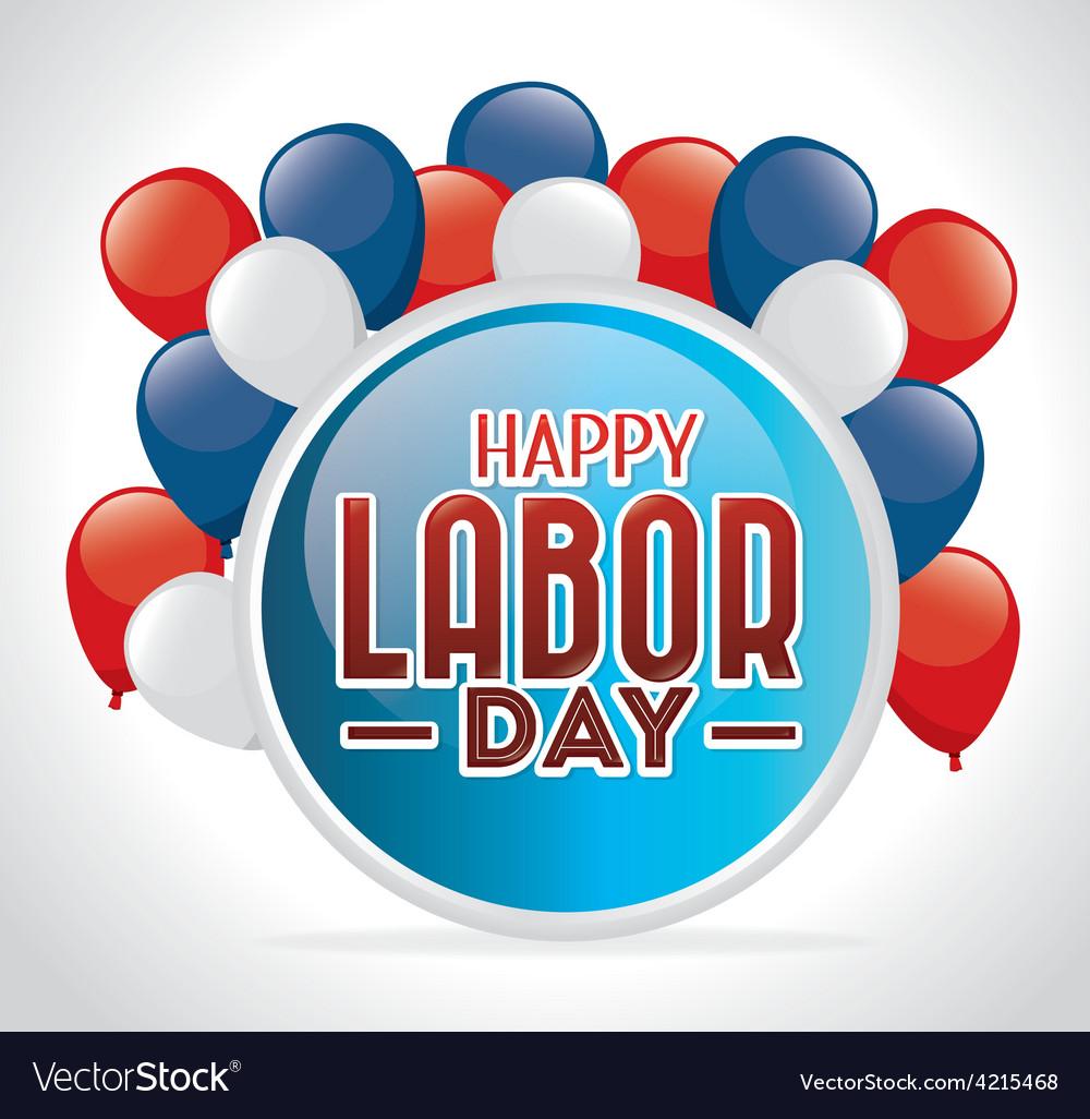 Labor day card design vector | Price: 1 Credit (USD $1)