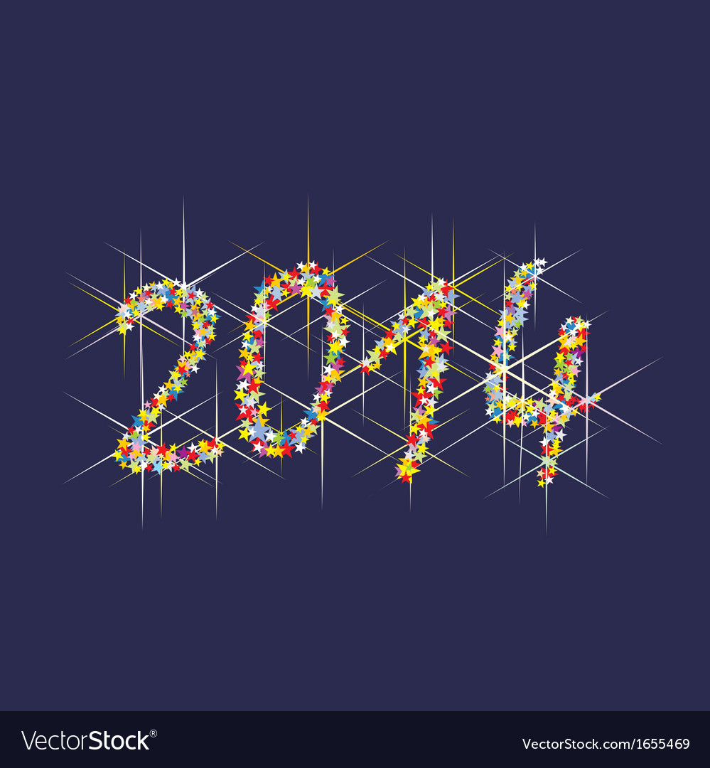 2014 new year fireworks vector | Price: 1 Credit (USD $1)