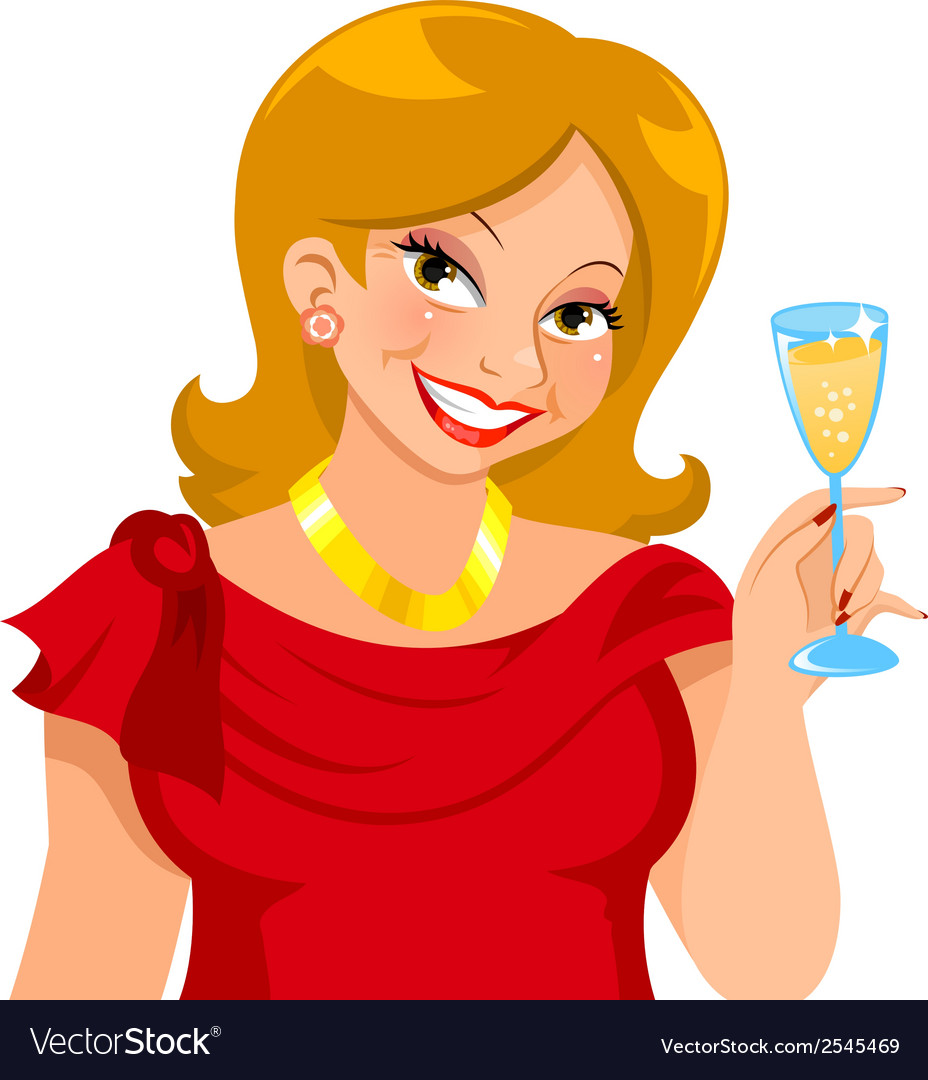 Attractive mature woman vector | Price: 1 Credit (USD $1)