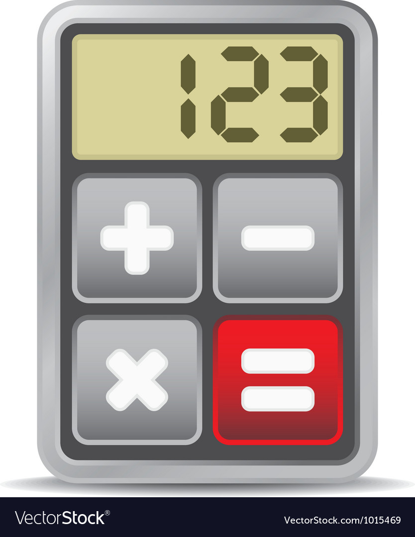 Calculator application icon vector | Price: 1 Credit (USD $1)