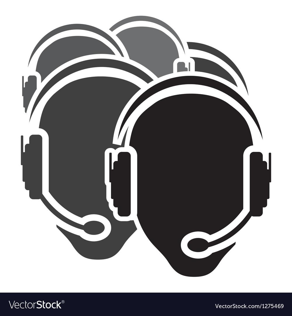 Call center icon vector | Price: 1 Credit (USD $1)