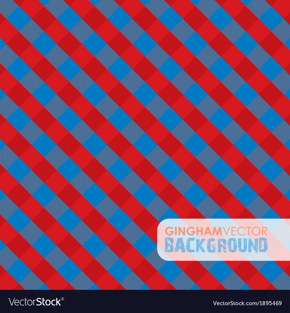 Gingham red and blue vector | Price: 1 Credit (USD $1)